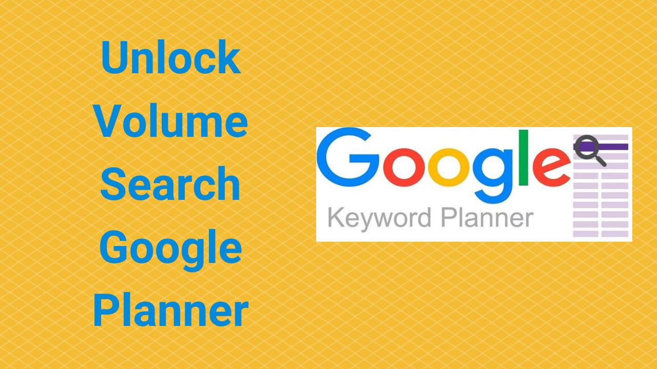 Cách dùng google keyword planner