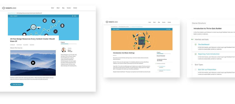 Giao diện trang khóa học của Thrive Apprentice