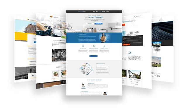 Mẫu landing page được thiết kế sẳn trong thrive architect